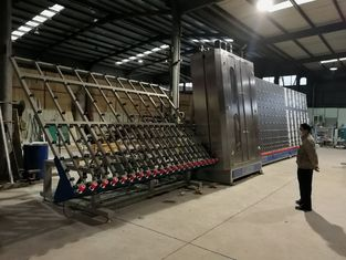 Chine Basse machine en verre de lavage d'E, taille en verre maximum 2800x4000mm de machine à laver en verre plat fournisseur